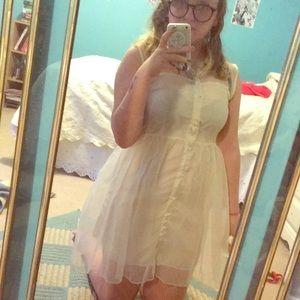 Sheer heart shape dress